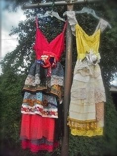Beautiful up-cycled dresses!