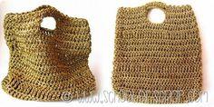 Serate estive fashion: Una borsa fatta all'uncinetto con filato dorato di carta