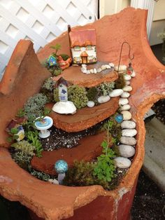 DIY miniature garden....These Gorgeous Fairy Gardens Will Make Your Homes A Little More Magical. Guaranteed. #DIYCrafts DIYFairygardens