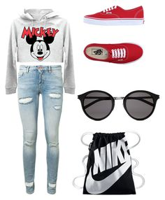 """""""Untitled #29"""" by proste-jaa on Polyvore featuring Off-White, Vans, Yves Saint Laurent and NIKE"""