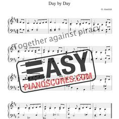 Day by Day (Blott en dag) is a Christian hymn. A PDF piano score, which can also performed with the organ. Piano Score, 19th Century, Sheet Music, Lyrics, Pdf, Names, Christian, Writing, The Originals