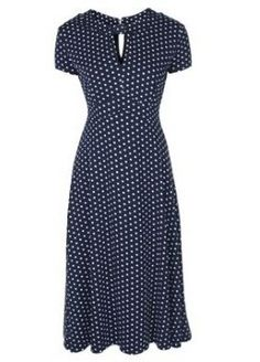Juliet CLASSY VINTAGE FORTIES / FIFTIES TEA DRESS Blue