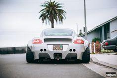 Porsche Cayman with Rotiform QLB