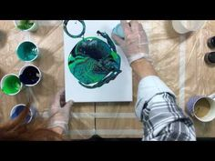 (17) ( 208 ) Acrylic pouring primary elements and a poke with stick - YouTube