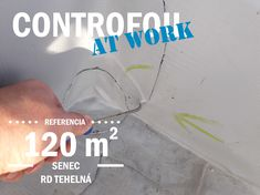 conductive leak detection foil CONTROFOIL at work Flat Roof, Map, Location Map, Maps
