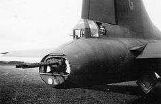 Tail-gunner in a B-17 Flying Fortress