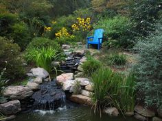 Do you need inspiration to make some DIY Backyard Ponds and Water Garden Landscaping Ideas in your Home? Water garden landscaping is a type of yard design which helps one to capture the essence of nature. Stone Water Features, Water Features In The Garden, Rock Waterfall, Garden Waterfall, Backyard Water Feature, Ponds Backyard, Backyard Ideas, Garden Ideas, Patio Ideas