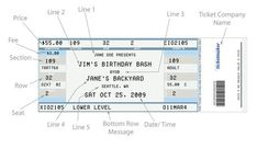 How To Make Tickets For An Event Free Event Ticket Templates Make Your Own Printable  Tickets, How To Create Tickets For An Event Tutorial Free Premium, ...
