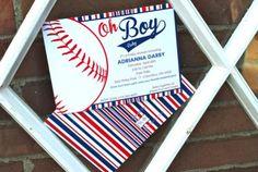 Baby Shower: Baby Shower Baseball To Make Your Elegant Baby Shower Invitations…