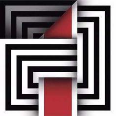 Cuadros Modernos Decorativos Geometricos, Omar Rayo - $ 145.000 en Mercado Libre Optical Illusion Quilts, Linear Art, African Art Paintings, Beginner Art, Illusion Art, Mid Century Art, Foto Art, Painting Patterns, Geometric Art