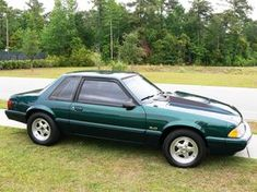 Fox Body Mustang, Ford Mustang Car, Ford Lincoln Mercury, Ford Motor Company, Drag Racing, Classic Cars, Midlife Crisis, Emerald Green, Bicycles