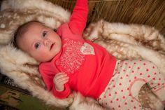 Dirkje babykleding 2 delig setje roze met beige Beautiful Bella