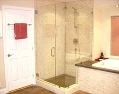 bathroom remodel with separate shower stall