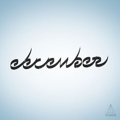 - December (isolated) - by Want Another God #Creation #Type #Idea #Mywork #font #december #typography #typographie