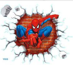 Spider Man Three-dimensional Stickers - Spiderman Wall Decals