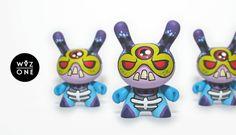 New MOTU Skeletor Themed Custom Kidrobot Dunny Series by WuzOne!
