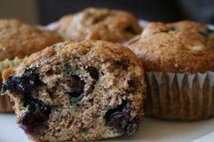 Egg-Free Banana Blueberry Muffins! Had a few over-ripe bananas on hand and these were delicious. Used 1/2 whole wheat flour and butter instead of oil.