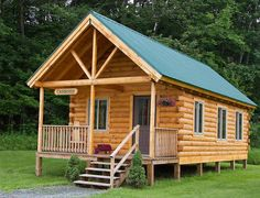 huge 2-bed log cabin.  looks really hard to build