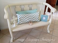 Lovely mahogany bench painted in Annie Sloan Old Ochre, by Vintage Elegance Interiors. Annie Sloan Chalk Paint Colors, Annie Sloan Painted Furniture, Annie Sloan Paints, Painted Coffee Tables, White Trim, Bench, Interiors, Elegant, Vintage