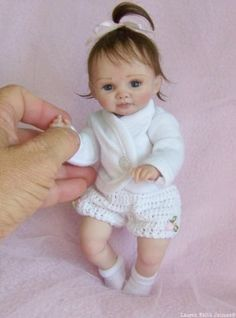 OOAK Polymer Clay Baby, Hand Sculpted, Art Doll, Mini Baby Girl Lauren Faith