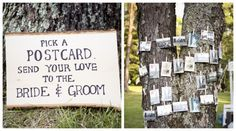 LOVE this!  Think how great these would be in your wedding album with candid photos.  Postcard Wedding Guestbook