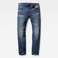 G-Star Raw 3301 Loose Jeans ($170) ❤ liked on Polyvore featuring men's fashion, men's clothing, men's jeans, mens relaxed fit jeans, mens relaxed boot cut jeans, mens button fly jeans and mens loose fit jeans