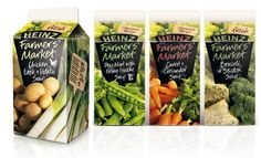 Heinz Farmer's Market soups create a connection that feels closer to home through their packaging design.  Natural materials and colors paired with hand written typography creates a sense of authenticity.