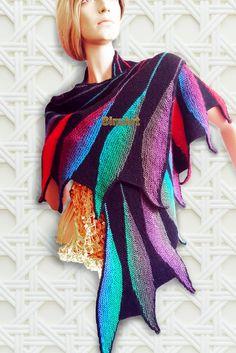 Wing shape Dreambird shawl