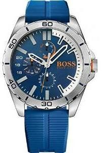 Hugo Boss Orange 1513291 48mm Stainless Steel Case Blue Rubber Mineral Men's Watch ** Check out the image by visiting the link.