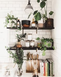 Home Decor Living Room .Home Decor Living Room Shelves In Bedroom, Decoration Inspiration, Decor Ideas, Plant Shelves, Wall Shelves, Slow Living, Cheap Home Decor, Home Remodeling, Home Kitchens