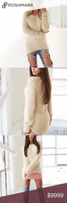 Shaggy Sweater Where this beauty , however you see fit! Looks great with ripped denim or worn tights, skirt and boots! Versatile sweater. Item is unbranded and straight from the manufacturer. Sweaters Crew & Scoop Necks