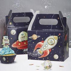 espacio Magdalena Cajas Fiesta de Cumpleaños /& Kit De Pastel Toppers, Meri Meri a la Luna