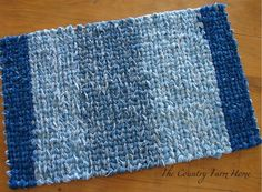 Hi, Everyone! I'm back again with the two recently finished Rag Rugs. . . This time, I have a tutorial on turning at the end of a row and...