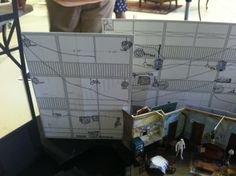 A model of the set for A Raisin in the Sun, from Scenic Designer Dede Ayite.