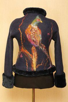 A New Hunt / Felted Clothing / Jacket by LybaV on Etsy