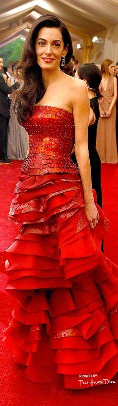 Amal Clooney in Maison Margiela ♔ Très Haute Diva ♔