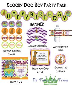 Scooby Doo Printable Party DIY by ThePolkaDotPrince on Etsy