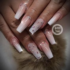 """214 Likes, 5 Comments - Bui808 Nails (@bui808_nails) on Instagram: """"Baby boomer classic ombre #nailmagazine #nailpro #uglyducklingnails #glitternails #allpowder…"""""""