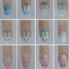 Konijntjes op je nagels