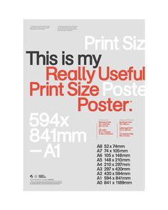 This is my Really Useful (2/5) Print Size Poster #mashcreative #mashcreativeposters available to…