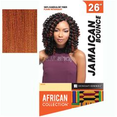 """Fri Feb 3, 2017 - #7: African Collection Jamaican Bounce 26"""" - Color 350 - Synthetic Braiding"""
