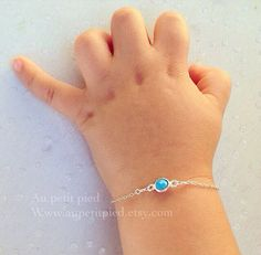 Turquoise baby and toddler bracelet - baby jewelry- birthstone jewelry- baby bracelet - toddler- baby boy gift- baby girl gift on Etsy, $32.00