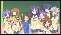 Okay. I've always noticed that Kyou and Ryou (clannad twins) and Kagami and Taukasa (lucky star) look the same!! Now here's a pin to prove my point. :)