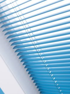 Aqua blue venetian blind