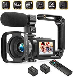 Amazon.com : Camcorder 1080P Video Camera KOT 36MP 3.0 Inch IPS Touch Screen 16X Digital Zoom IR Night Vision HD Vlogging Camera Digital Video Camera Camcorder with Microphone Handheld Stabilizer Remote Control : Electronics Top Digital Cameras, Amazon Electronics, Home Camera, Motion Video, Video Capture, Gadgets And Gizmos, Video Camera, Camcorder, Night Vision
