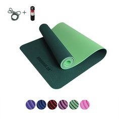 Ropa De Hombre Yoga Mat Anti Slip Sports Fitness Exercise Pilates Gym Colchonete For Beginners With Yoga Bag 183*61*1cm Lovely Luster