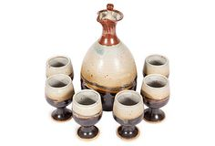 Pottery Wine Decanter Ceramic Teapots, Wine Decanter, Tea Pots, Pottery, Ceramics, Cups, Ceramica, Ceramica, Wine Carafe