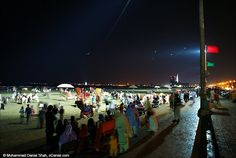 Night at Clifton Beach, Karachi Clifton Beach, Times Square, Popular, Night, Places, Travel, Most Popular, Viajes, Traveling