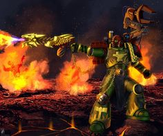 M'rn'k Uhr by TheMaestroNoob on DeviantArt Warhammer 40k Salamanders, Salamanders Space Marines, Warhammer 40k Art, Warhammer Fantasy, Wimpy Kid, Into The Fire, Concept Art, Gallery, Artwork