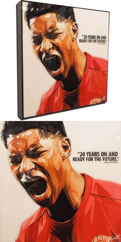 Marcus Rashford Poster Plaque with Quote years on and ready for the future. English National Team, World Cup Draw, Famous Pop Art, Marcus Rashford, Pop Art Posters, Manchester United, 20 Years, Pop Culture, The Unit